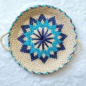 Blue Patterned Basket